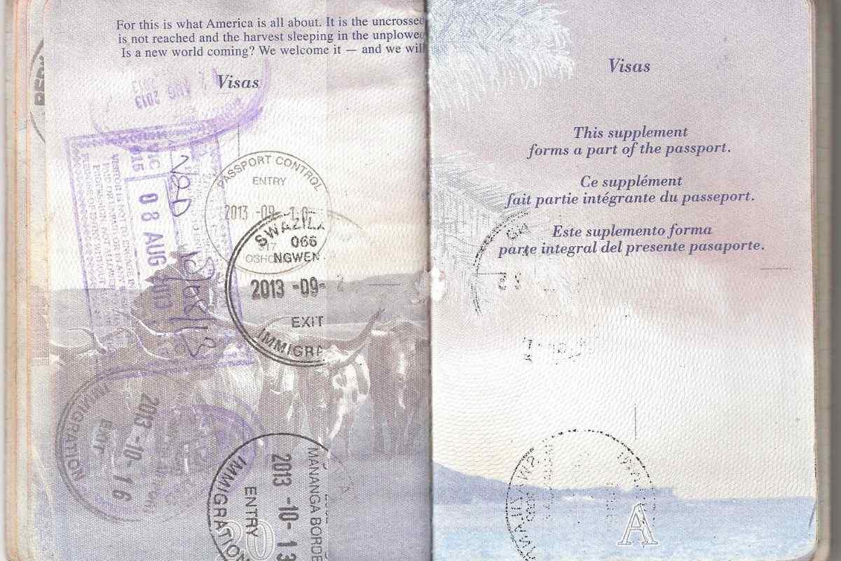 US Passport book number